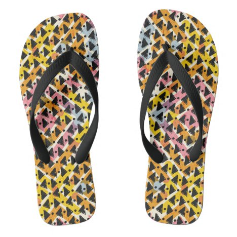 Cris cross look yellow blue pink black stylish flip flops