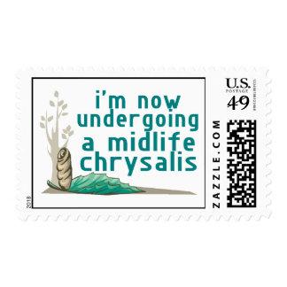 Crisálida de la media vida sello postal