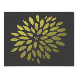 Crisantemo amarillo invitacion personal