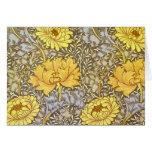 crisantemo de William Morris Felicitación