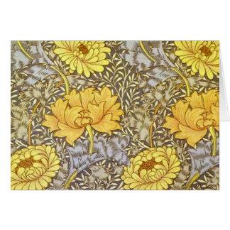 crisantemo de William Morris Tarjeta De Felicitación