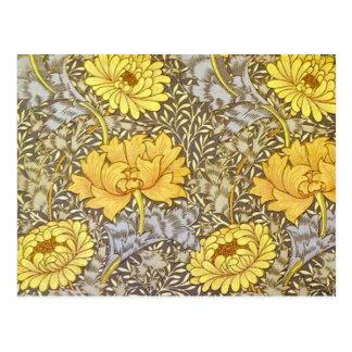 crisantemo de William Morris Postal