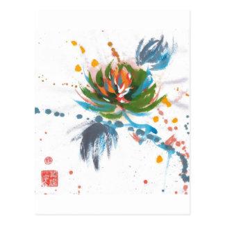 Crisantemo del carnaval tarjetas postales