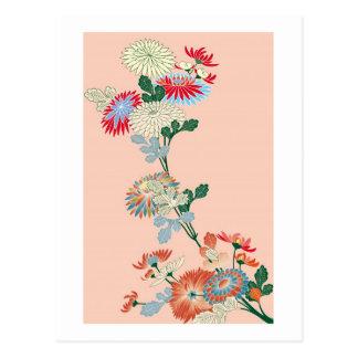 Crisantemo japonés tarjeta postal