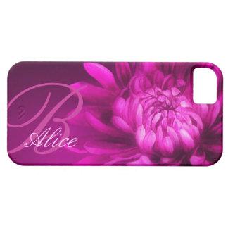 "crisantemo ""nombrado"" caja de color de malva iphon iPhone 5 Case-Mate cobertura"
