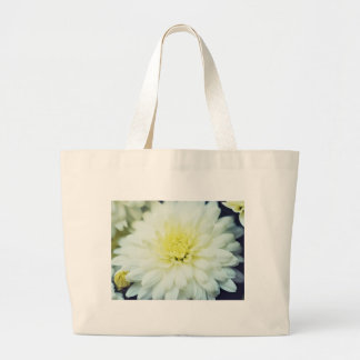 Crisantemo texturizado bolsa tela grande