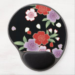 Crisantemo y bella arte del japonés de Sakura Alfombrillas De Ratón Con Gel