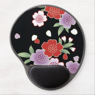 Crisantemo y bella arte del japonés de Sakura Alfombrillas De Raton Con Gel