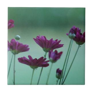 Crisantemo y significado azulejo cuadrado pequeño