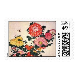 Crisantemo y tábano, Katsushika Hokusai Sello