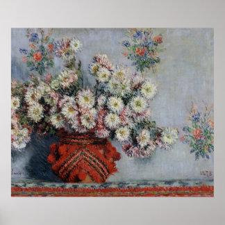 Crisantemos 1878 posters