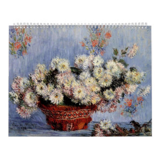Crisantemos - Claude Monet Calendario De Pared