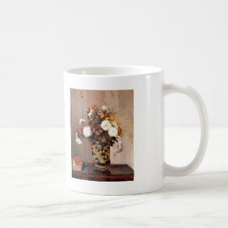 Crisantemos de Camilo Pissarro- en un florero Taza