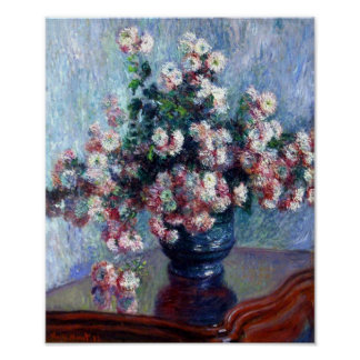 Crisantemos de Claude Monet Impresiones
