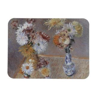 Crisantemos de Gustave Caillebotte Imanes De Vinilo