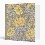 Crisantemos del papel pintado floral del vintage