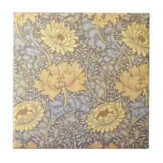 Crisantemos del papel pintado floral del vintage azulejo cuadrado pequeño