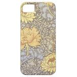 Crisantemos del papel pintado floral del vintage iPhone 5 funda