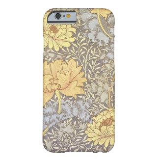 Crisantemos del papel pintado floral del vintage funda para iPhone 6 barely there