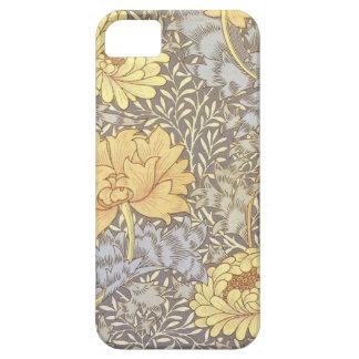 Crisantemos del papel pintado floral del vintage iPhone 5 carcasas