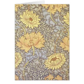 Crisantemos del papel pintado floral del vintage felicitacion