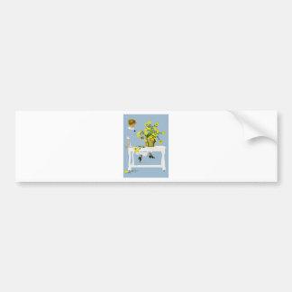 Crisantemos Fadeaway de Coles Phillips Pegatina Para Auto
