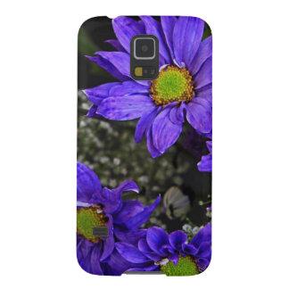 Crisantemos púrpuras del verde azul funda de galaxy s5