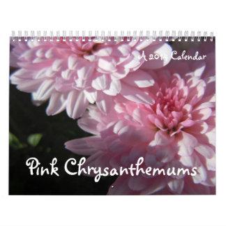Crisantemos rosados, un calendario 2014