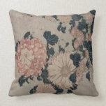 Crisantemos (woodblock del color) cojines