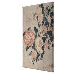 Crisantemos (woodblock del color) impresiones de lienzo