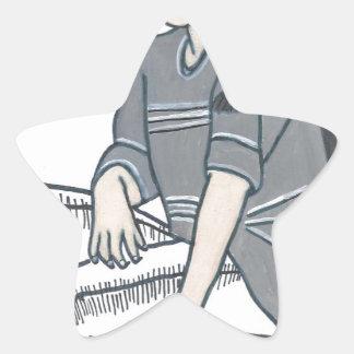 Crisis de identidad pegatina en forma de estrella