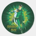 Crisis de Kryptonite del superhombre Pegatina Redonda