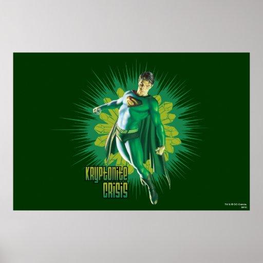 Crisis de Kryptonite del superhombre Póster