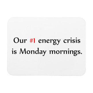 Crisis de la energía imán de vinilo