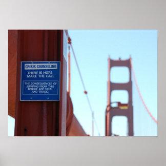 Crisis de puente Golden Gate que aconseja el Póster