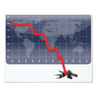 Crisis económica global invitación 10,8 x 13,9 cm