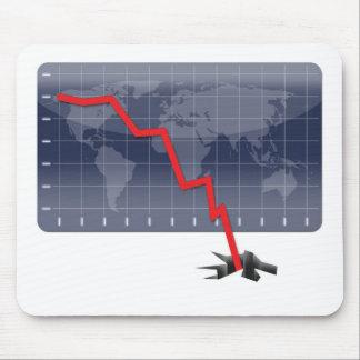 Crisis económica global alfombrilla de ratones