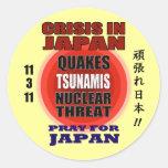 Crisis en Japón 2011 Pegatina Redonda