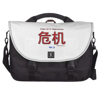 Crisis Equals Opportunity Laptop Bags