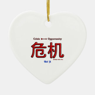 Crisis Equals Opportunity Ornament