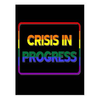 Crisis in Progress Postcard