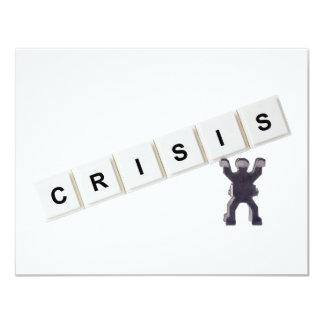"Crisis Invitación 4.25"" X 5.5"""
