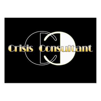 crisis large business card