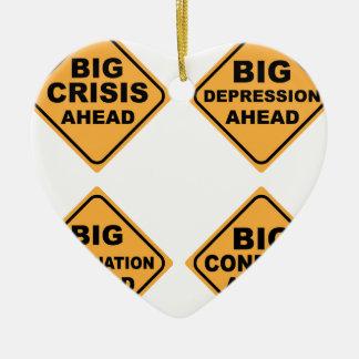 Crisis Signs Ceramic Ornament