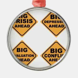 Crisis Signs Metal Ornament