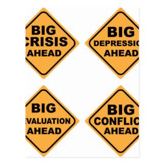 Crisis Signs Postcard