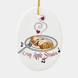 Crisp Apple Strudels Ceramic Ornament