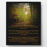 Crisp Autumn Breeze Scenic Poem Easel Photo Plaques