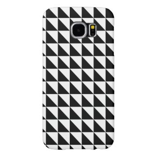 Crisp Black and White Triangles Samsung Galaxy S6 Cases