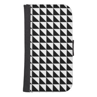 Crisp Black and White Triangles Galaxy S4 Wallet